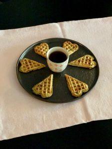 Gaufres complètes du petit-déjeuner